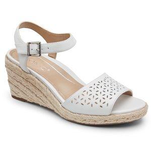 Vionic | Women's Ariel White Wedge Support Sandals